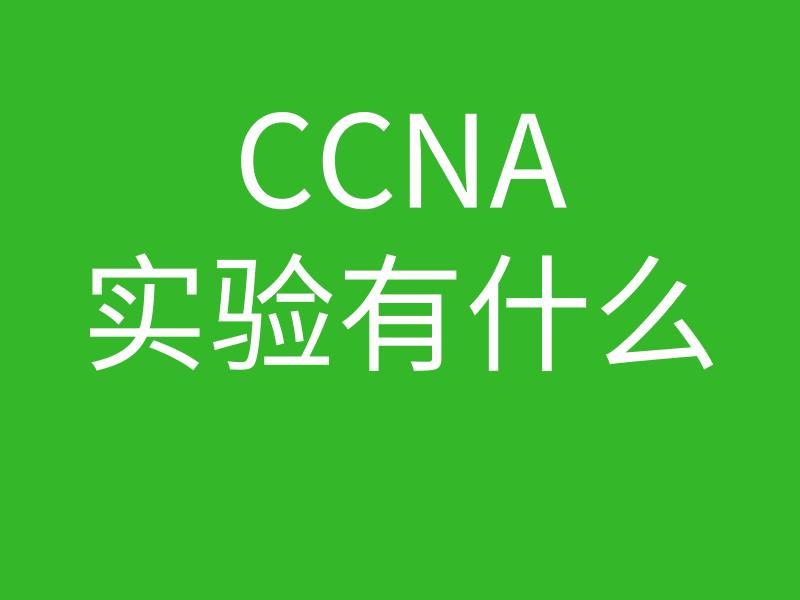 CCNA培训常见问题002-CCNA实验一般包括什么