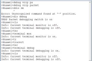 华为路由器使用cls为什么不能清除屏幕的信息呢